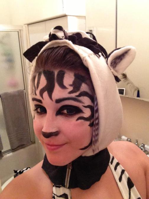 Zebra Costume Halloween 2012