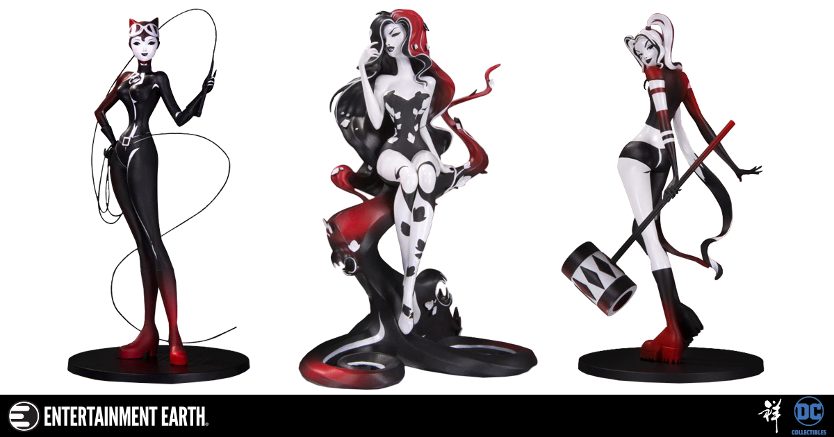 Sho Murase Gotham City Sirens Art Transforms into Incredibly Detailed Statues!
